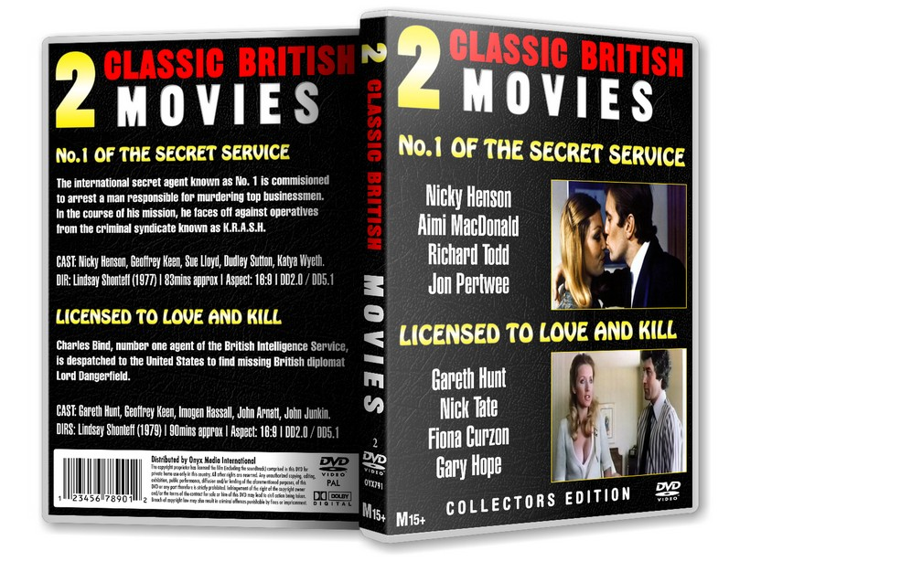 LICENSED TO LOVE AND KILL - Gareth Hunt [2DVD] 1979