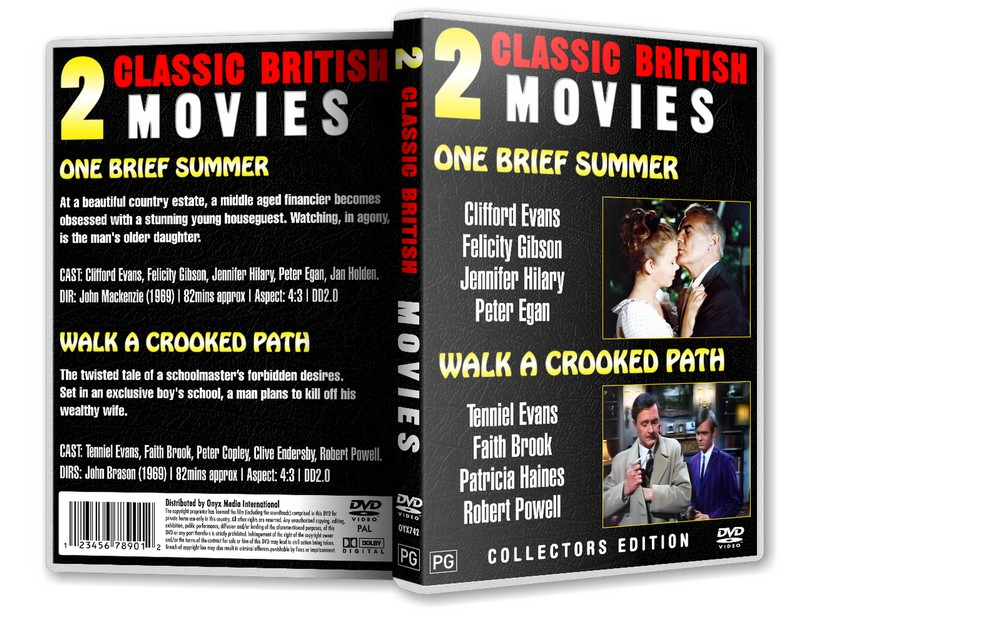 ONE BRIEF SUMMER - Clifford Evans Felicity Gibson [1969] DVD