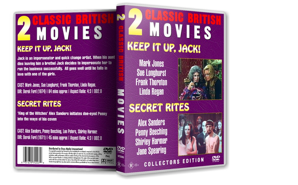 SECRET RITES - Alex Sanders Penny Beeching (1971) DVD