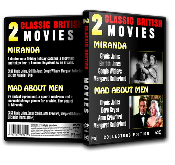 MAD ABOUT MEN - Glynis Johns, M. Rutherford (2xMovies) 1954