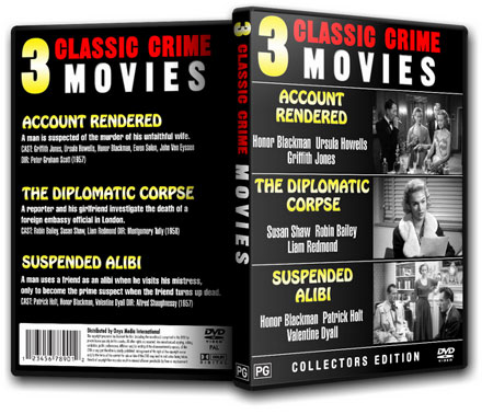 3 Classic Crime Movies - Honor Blackman