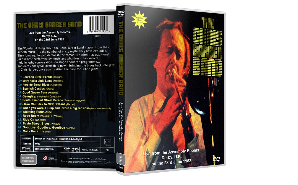 THE CHRIS BARBER BAND - Live in Derby 1982 [DVD]