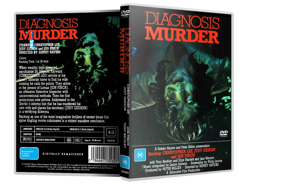 DIAGNOSIS: MURDER - Christopher Lee Judy Geeson 1974 (DVD)