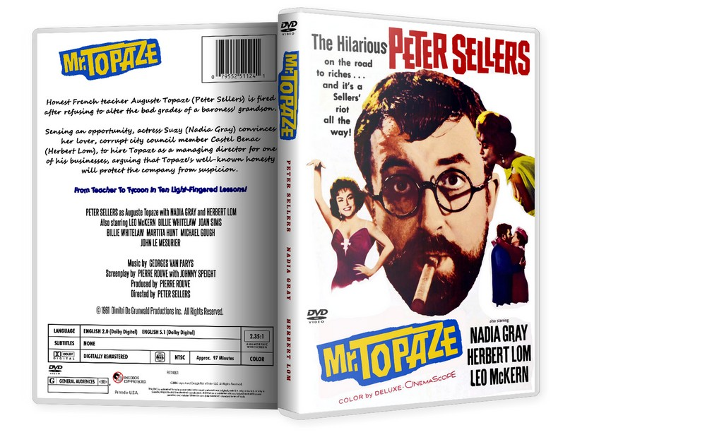 MR TOPAZE - Peter Sellers, Joan Sims [1961] DVD