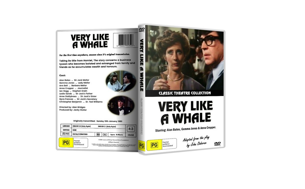VERY LIKE A WHALE - Alan Bates, Anna Cropper DVD [1980]